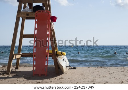 Lifesaver tower - stock photo