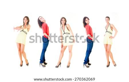 Lifestyle Concept Over White  - stock photo