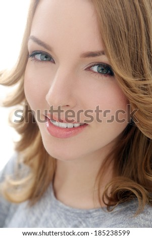 Lifestyle. Cute girl with beautiful smile