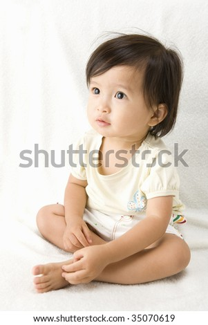LIFESTYLE IMAGE-a  lovely baby sitting on the floor