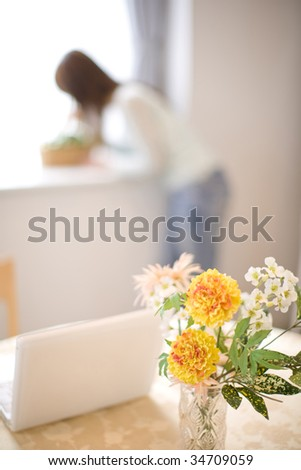 LIFESTYLE IMAGE-lovely flowers in a vase