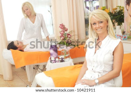 Lifestyle photo from the beauty-salon. - stock photo
