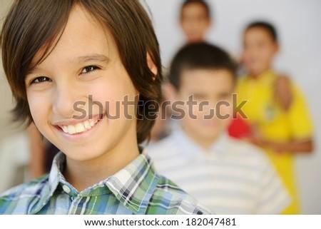 Lifestyle posing kids - stock photo