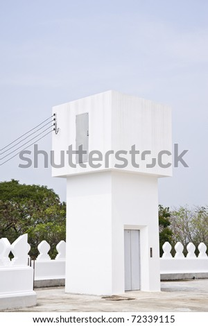 Lift in thai temple - stock photo