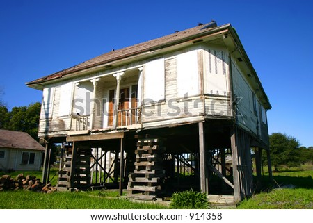 Lifted House - stock photo