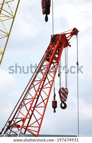 Lifting crane - stock photo