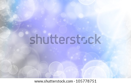 light abstract fresh color background with cycle bokeh lights and stars - stock photo