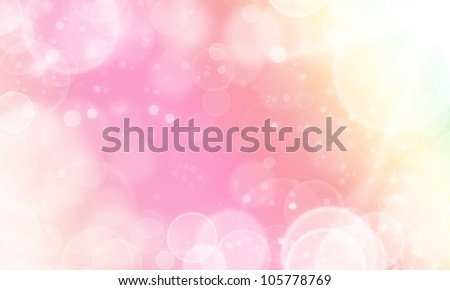 light abstract sweet color background with cycle bokeh lights and stars - stock photo