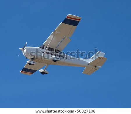 Light Aircraft coming in to land - stock photo