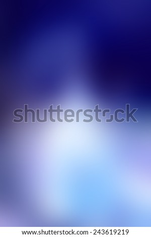 light and dark blue background, abstract blurred out of focus design template, blue brochure layout - stock photo