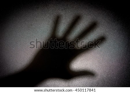 Light and Shadow hands Symbols for Concept of you - stock photo