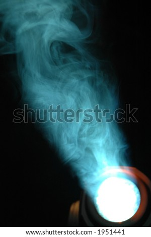 Light and smoke - stock photo