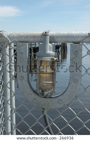 Light at a lock and canal in Florida - stock photo