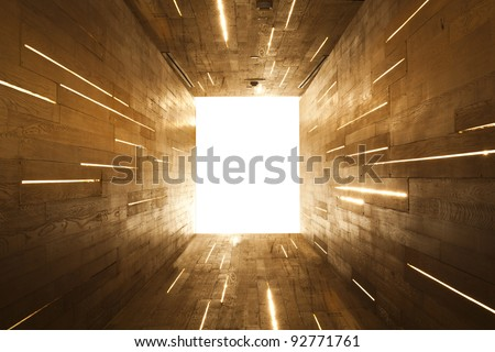 Light at End of Tunnel - stock photo