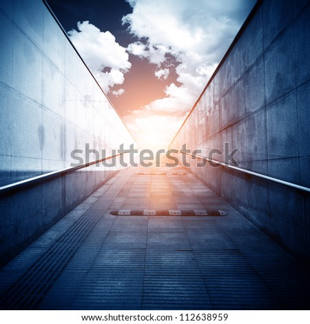 Light at the end of the tunnel. - stock photo