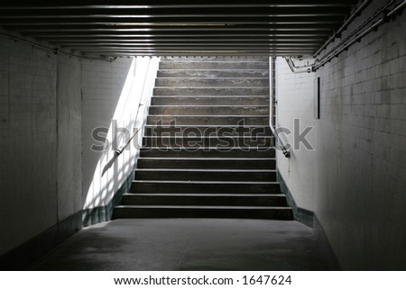 Light at the end of the tunnel - also available as portrait - stock photo