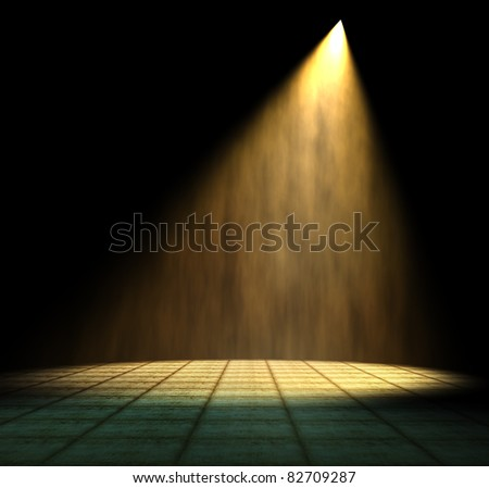 Light Beam in dark room