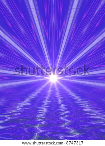 light beams, abstract background - stock photo