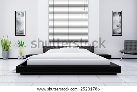 Light bedroom - stock photo