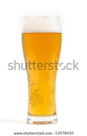 Light Beer glass isolated on white background