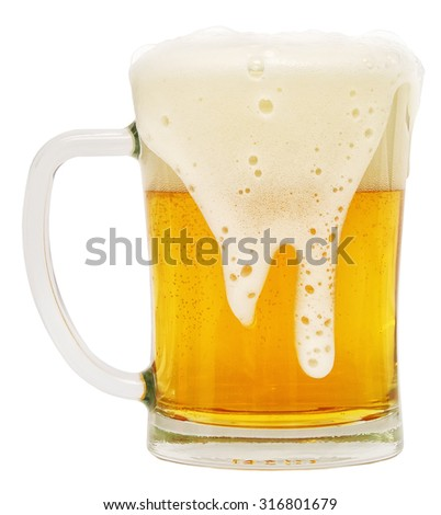 light beer isolated on white background - stock photo