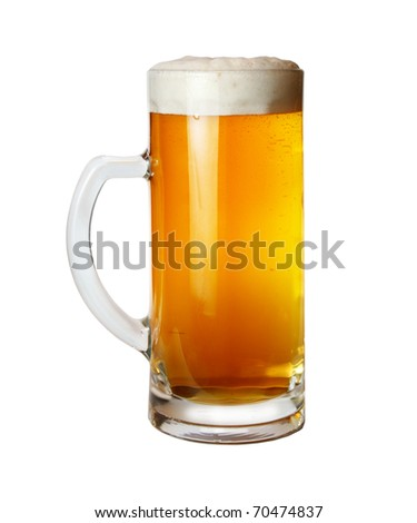 light beer; object on a white background