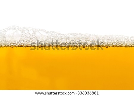 Light beer with foam bubble texture background close up - stock photo