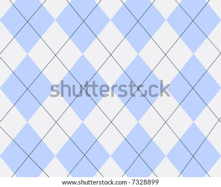 Light blue and white argyle