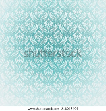 Light Blue Antique Wallpaper Baroque Style