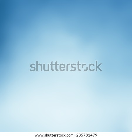 light blue background blurred sky design, cloudy white paint with blue blurry border, fresh spring colors background  - stock photo