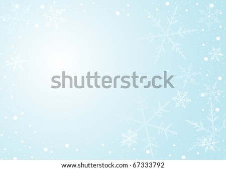 Light blue background with show flakes - stock photo
