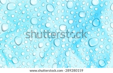 Light blue background with stains and water drops
