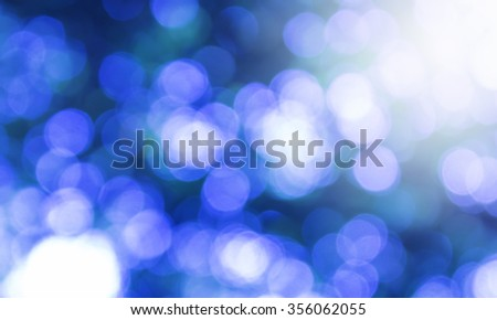 Light blue bokeh nature abstract background