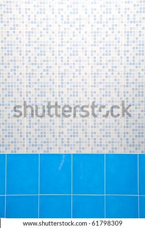 Light Blue Ceramic Wall - stock photo