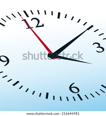 Light blue clock concept. Close-up illustration.  - stock photo