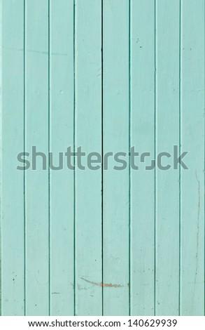 Light blue color hardwood door - stock photo