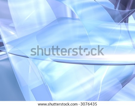 Light Blue 3D Abstract - stock photo