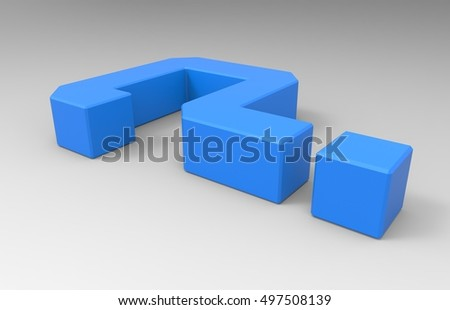 Light Blue 3D Illustration Of A Question Mark Symbol On A Transparent Background