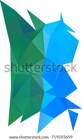 Light Blue, Green polygon abstract pattern. Creative illustration in halftone style with gradient. The completely new template can be used for your brand book.