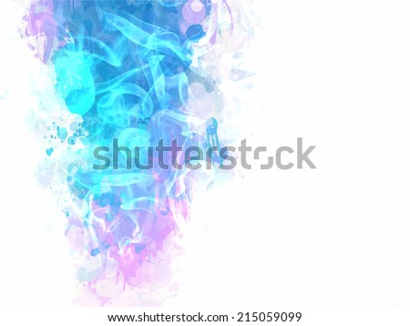 Light blue ink background