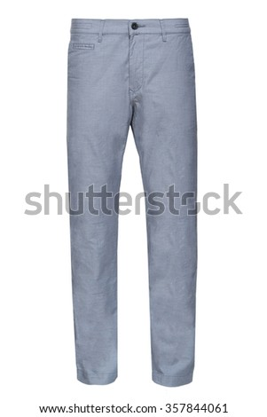 light blue male pants - stock photo