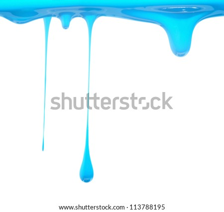Light Blue paint dripping