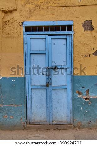 Light blue rustic door against a concrete coloured wall & Rustic Door Stock Images Royalty-Free Images u0026 Vectors | Shutterstock pezcame.com