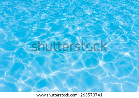Light Blue swimming pool rippled water texture reflection - stock photo