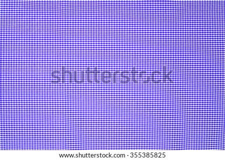 light blue  tablecloth texture, background with copy space (The pattern on this fabric is common in Thailand and is not subjected to copyright) - stock photo