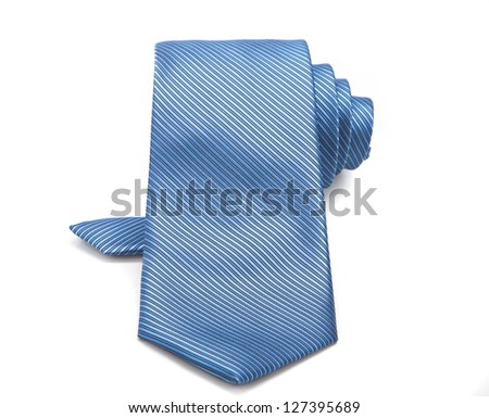 light blue tie isolated - stock photo