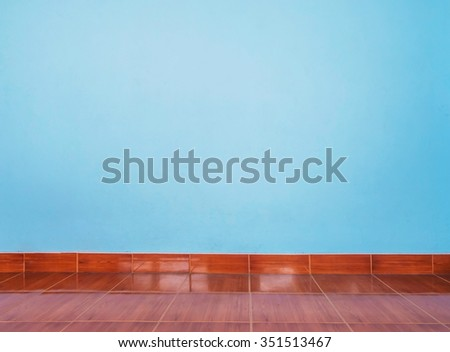 Light Blue Wall Floor Tiles Wood Stock Photo Safe To Use 351513467