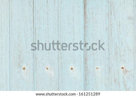 light blue wooden wall texture  - stock photo