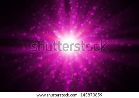 light bokeh on dark pink background. - stock photo