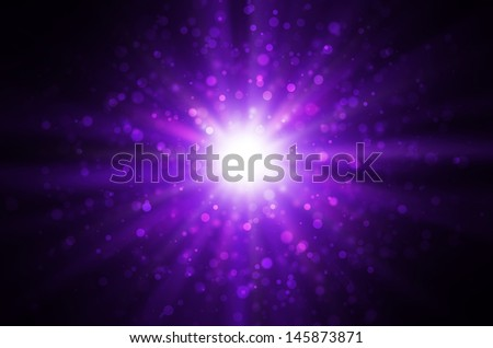 light bokeh on dark purple background. - stock photo